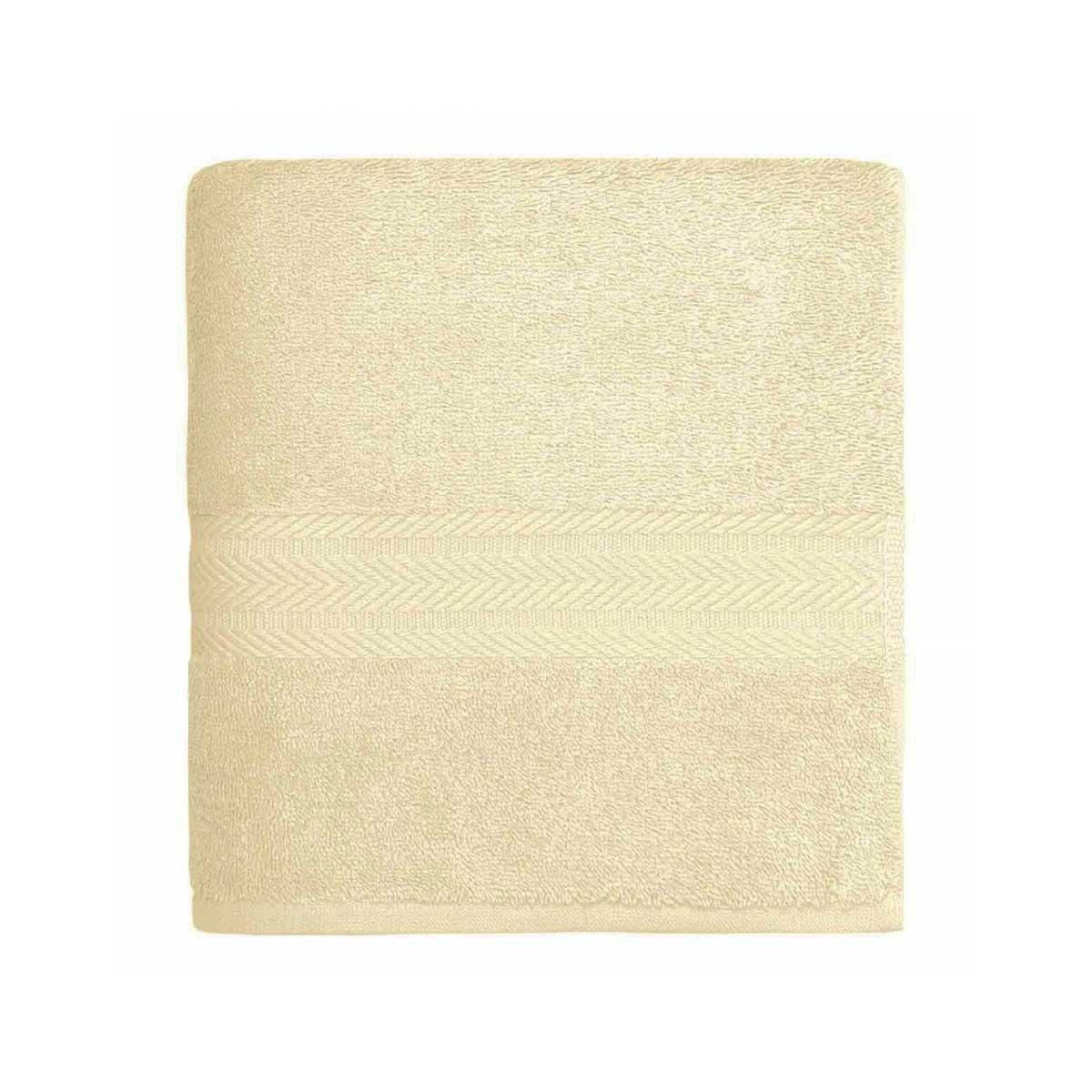 Serviette de toilette en coton de 550gr/m² écru - Ecru - 50 x 100 cm