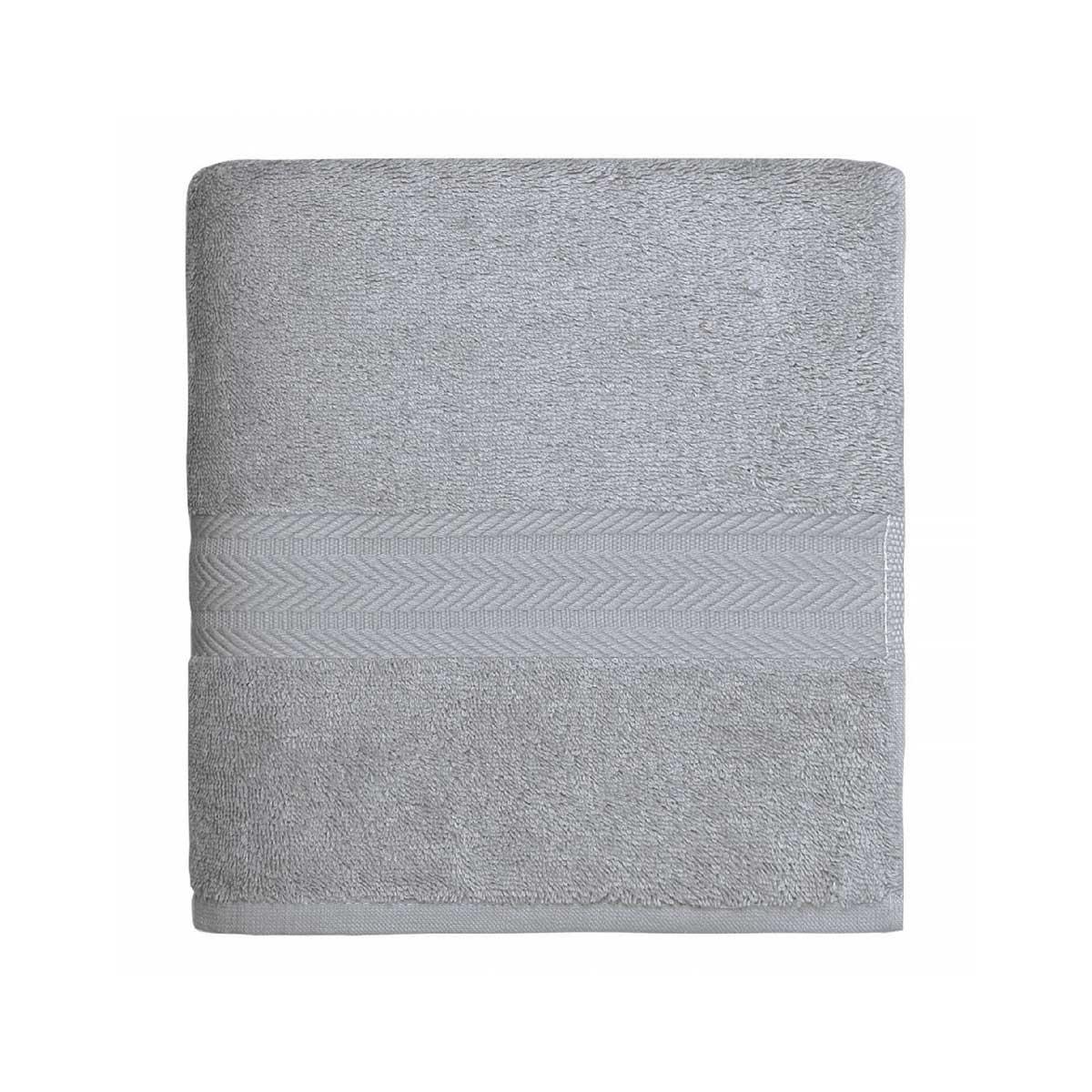 Serviette de toilette en coton de 550gr/m² gris perle - Gris Perle - 50 x 100 cm
