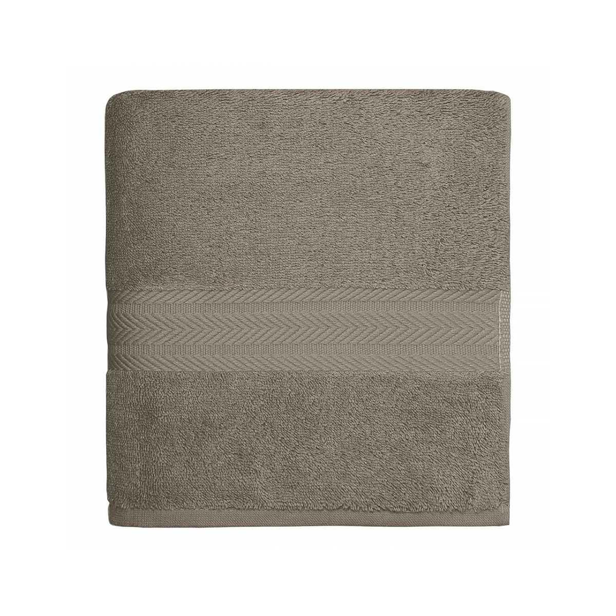 Serviette de toilette en coton 550gr/m² mastic - Mastic - 50 x 100 cm