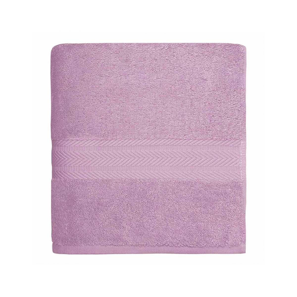 Serviette de toilette en coton 550gr/m² parme - Parme - 50 x 100 cm