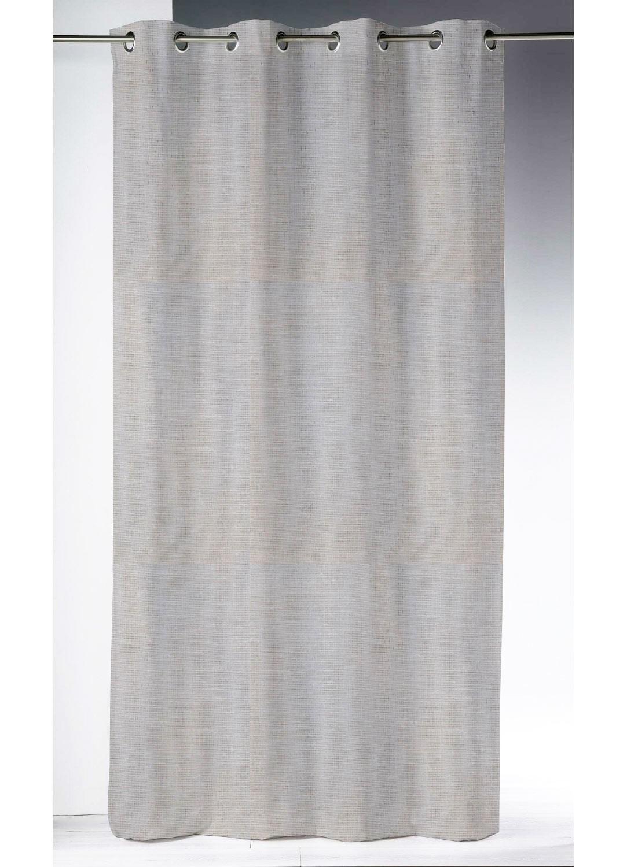 Voilage en étamine ajourée blanc cassé (blanc cassé)