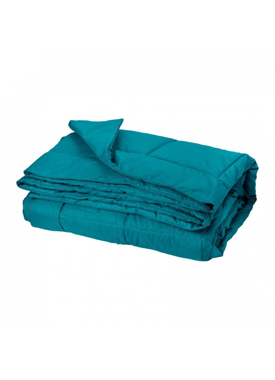 Jeté de lit effet duvet (Bleu)