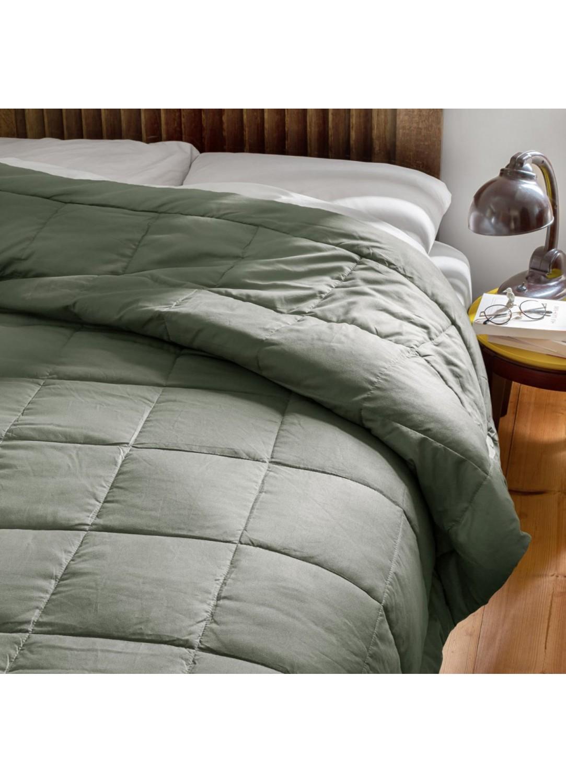 Jeté de lit effet duvet (Argile)