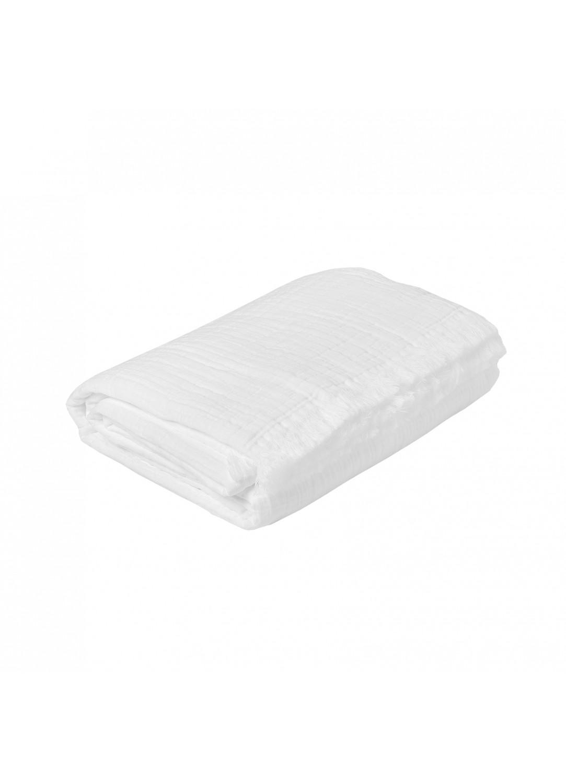 Plaid en gaze de coton (Blanc)