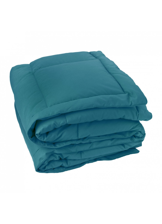 Édredon effet duvet (Bleu)