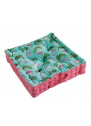 Coussin de sol imprimé feuillages et flamants roses