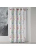 Voilage imprimé bambous multicolores