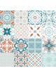 Toile Cirée imprimée patchwork géométrique
