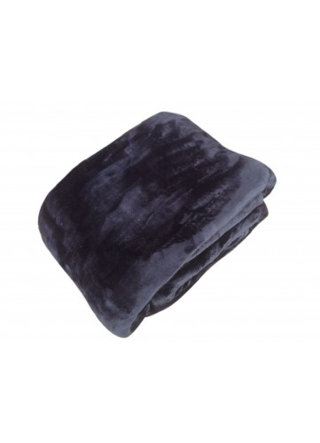 Couverture en Micro Velours Unie - Noir - 130 x 150 cm