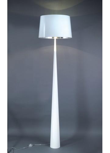 Lampadaire Forme Conique - Blanc - 178 cm