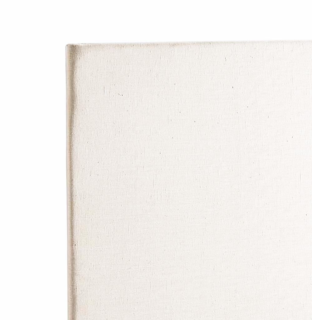 Tête de Lit Capitonnée en Lin Lavé - Blanc - 90 x 120 cm