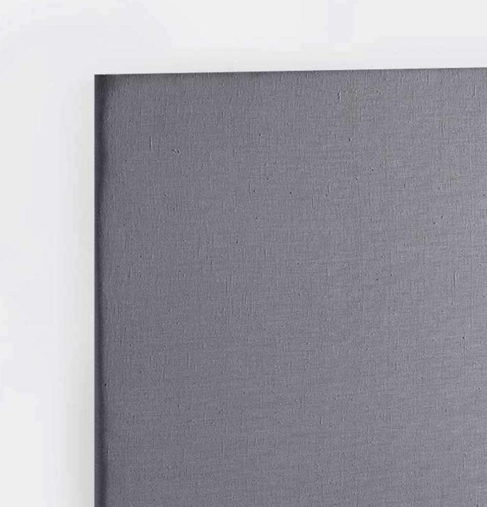 Tête de Lit Capitonnée en Lin Lavé - Gris souris - 90 x 120 cm