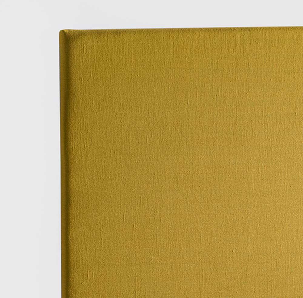 Tête de Lit Capitonnée en Lin Lavé - Moutarde - 90 x 120 cm