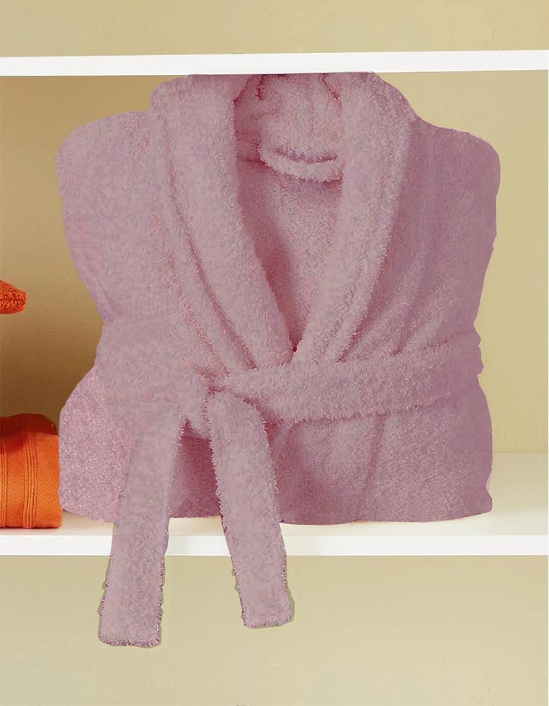 Peignoir de Bain Uni et Coloré - Rose - XL