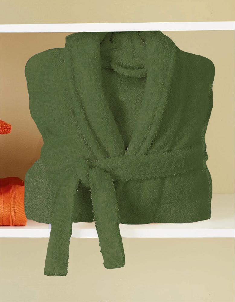 Peignoir de bain uni et coloré - vert tilleul - XL