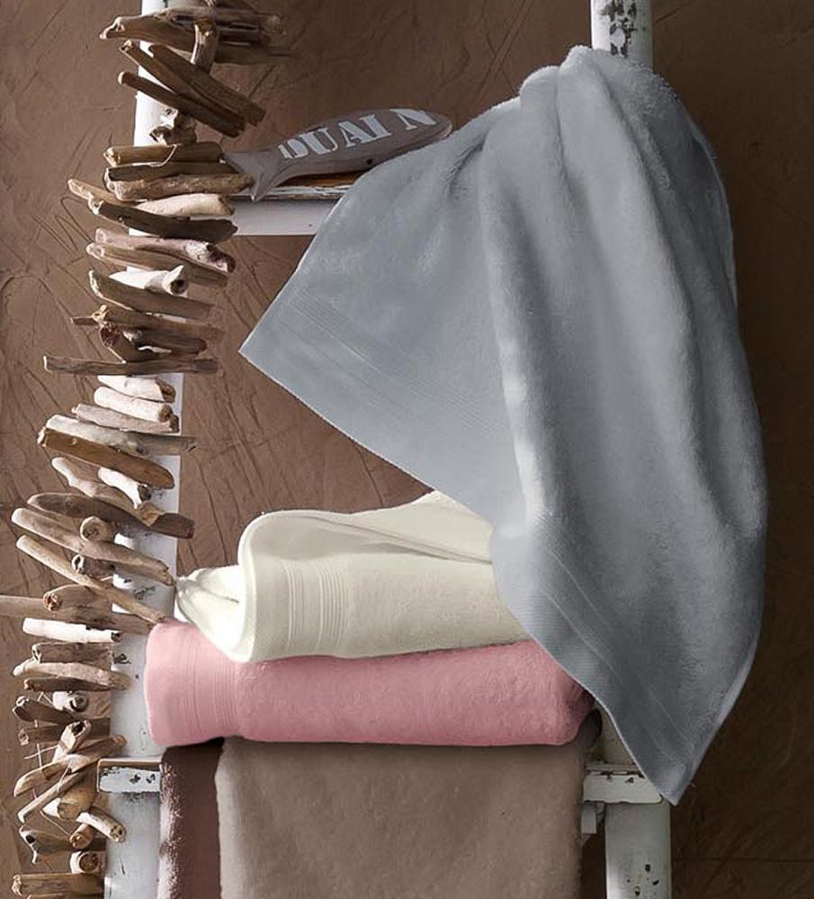 Lot de 2 Serviettes De Toilette Unies et Colorées (Fleur de Sel)