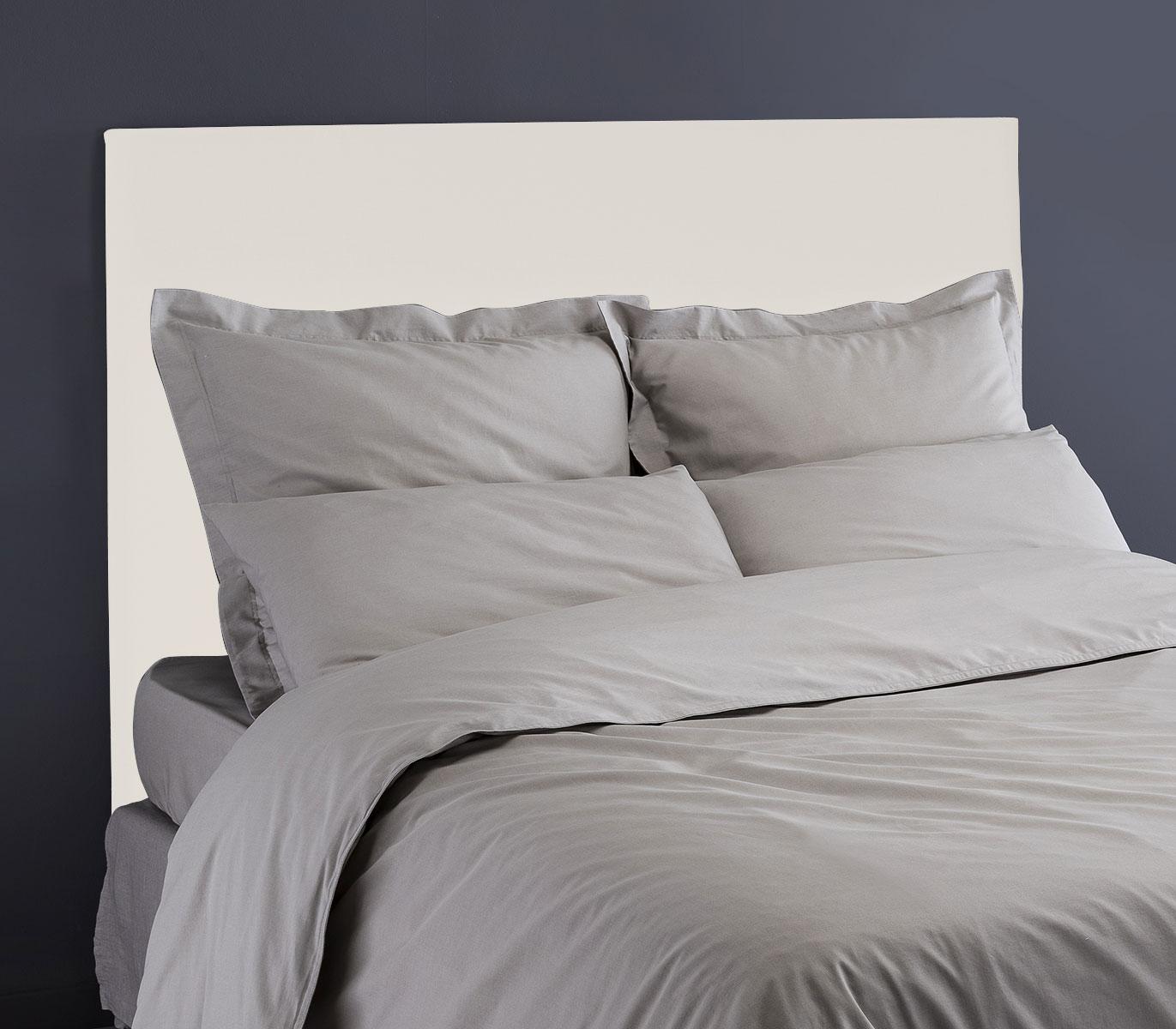 Tête de Lit en Velours Mat - Blanc - 90 x 120 cm