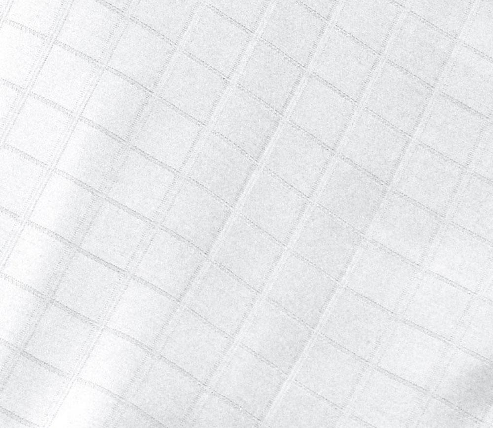 Drap Housse Damassé en Satin de Coton - Blanc - 140 x 190 bt 30 cm