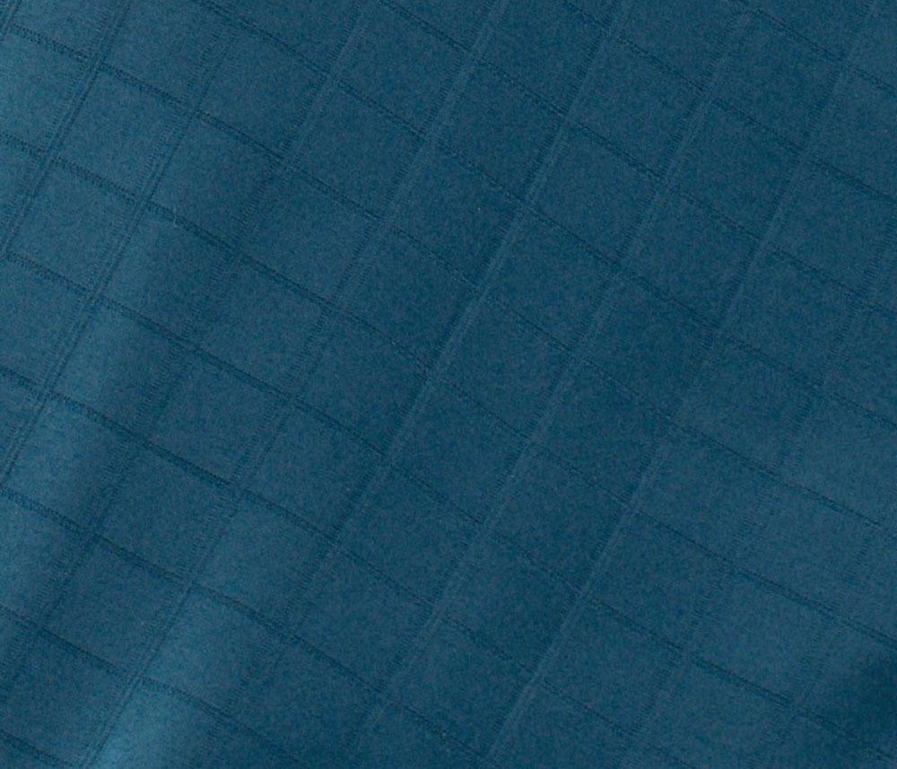 Drap Housse Damassé en Satin de Coton - Indigo - 140 x 190 bt 30 cm