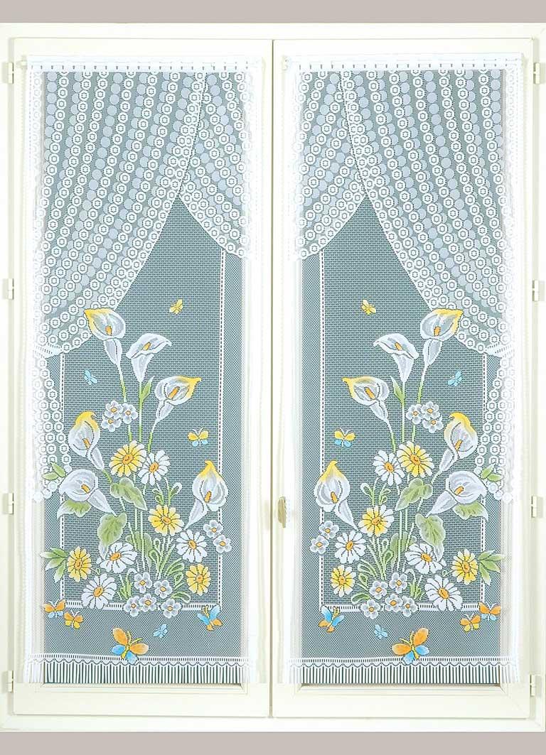 Paire de Vitrages Frangés Arum - peint - 60 x 160 cm