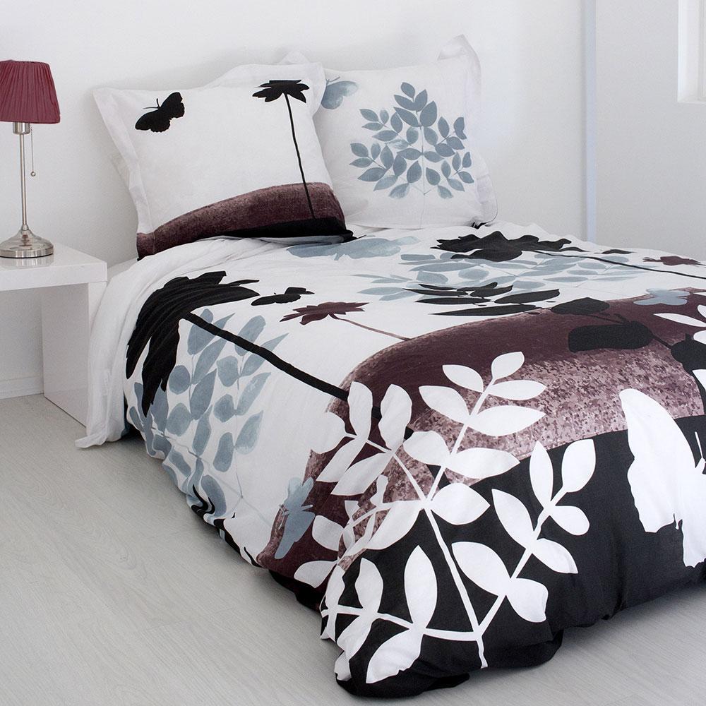 parure de lit esprit automnal chocolat homemaison vente en ligne parures de lit. Black Bedroom Furniture Sets. Home Design Ideas