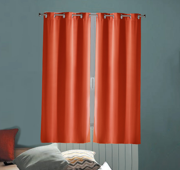paire de rideaux radiateur corail homemaison vente en ligne rideaux. Black Bedroom Furniture Sets. Home Design Ideas