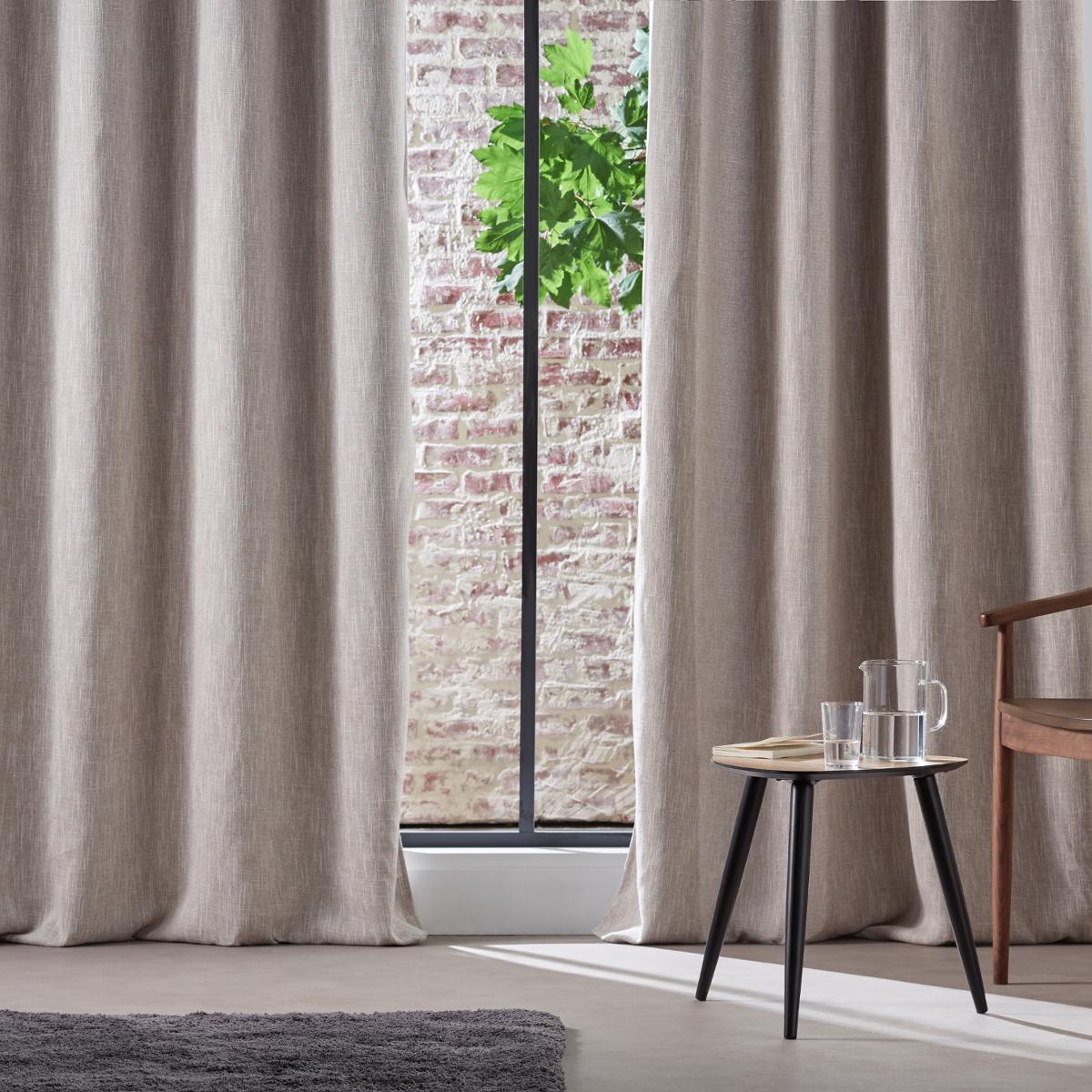 rideau occultant chin lin gris fonc gris clair bordeaux homemaison vente en. Black Bedroom Furniture Sets. Home Design Ideas