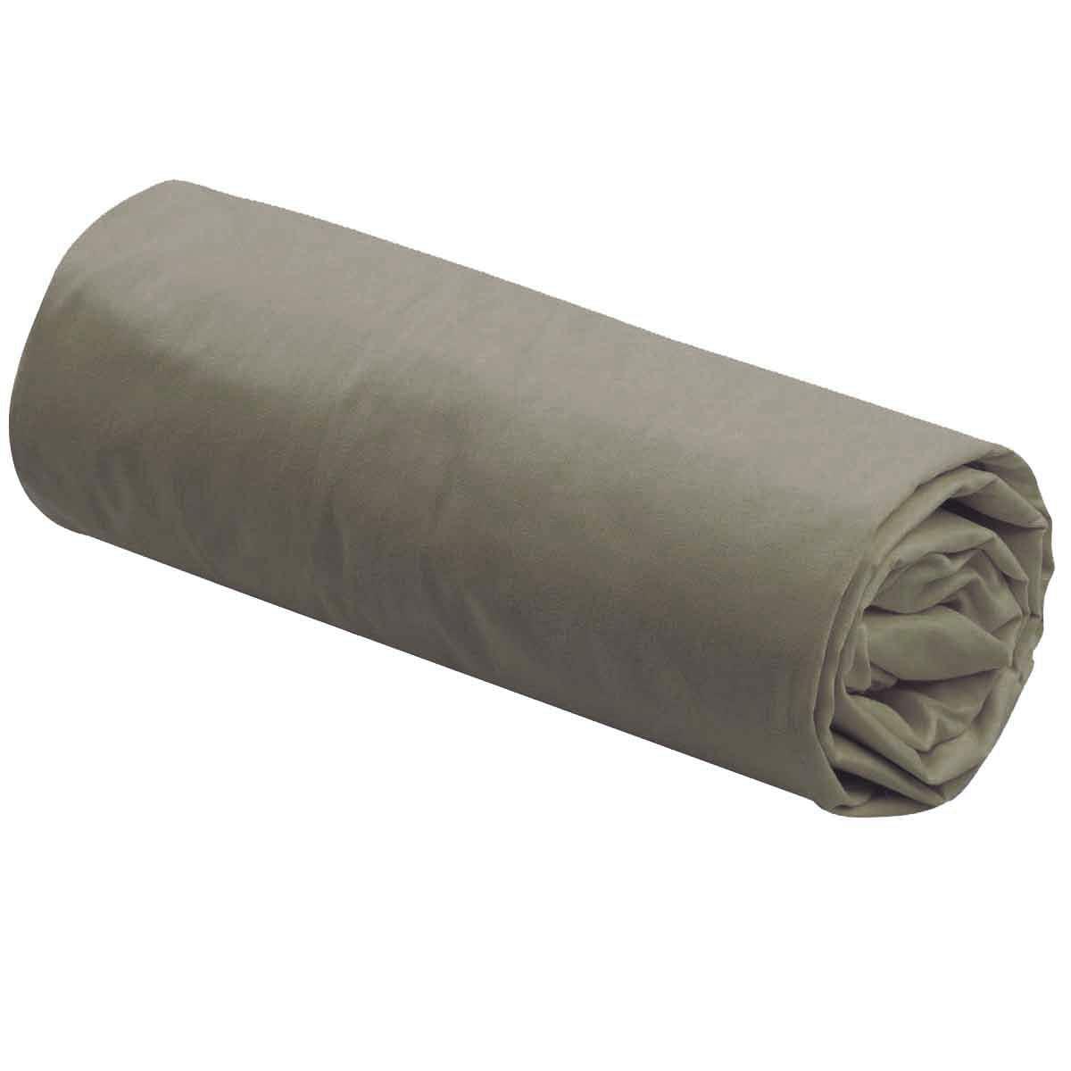 Drap Housse Uni 100% Coton - Gris - 140 x 190 cm