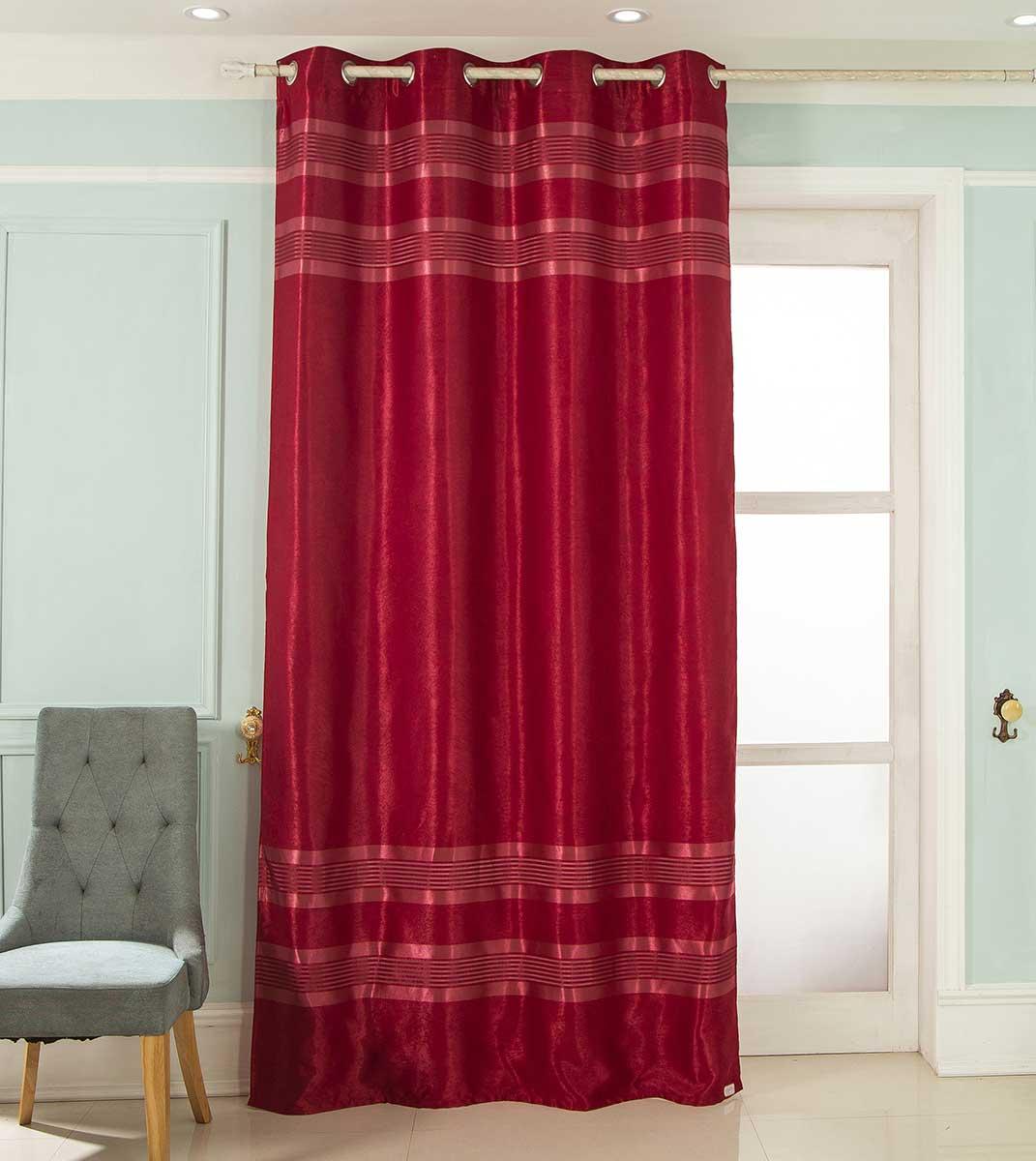 Rideau Occultant à Rayures - Rouge - 140 x 260 cm
