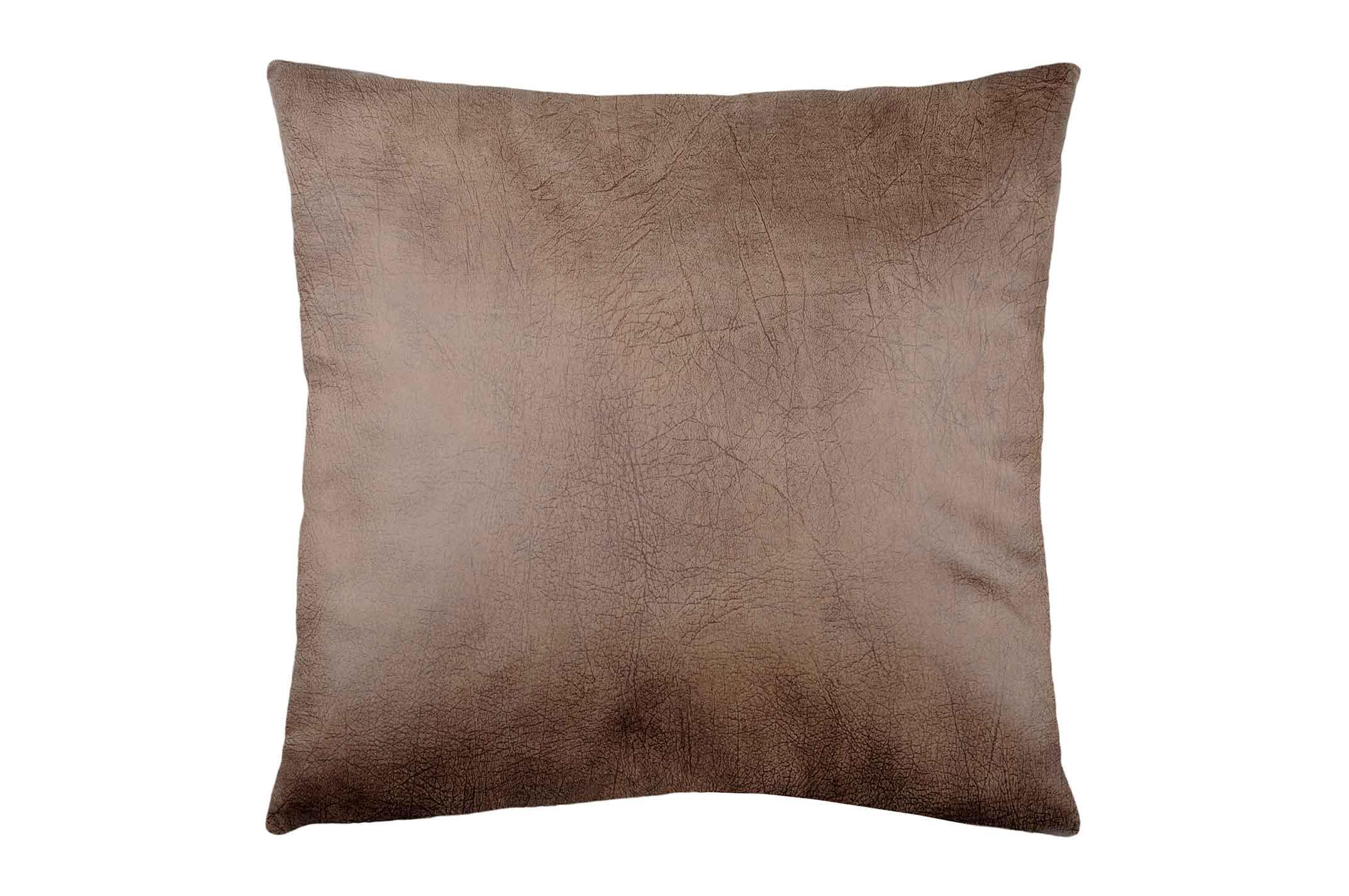 coussin effet cuir tann marron ecru homemaison vente en ligne coussins standards. Black Bedroom Furniture Sets. Home Design Ideas