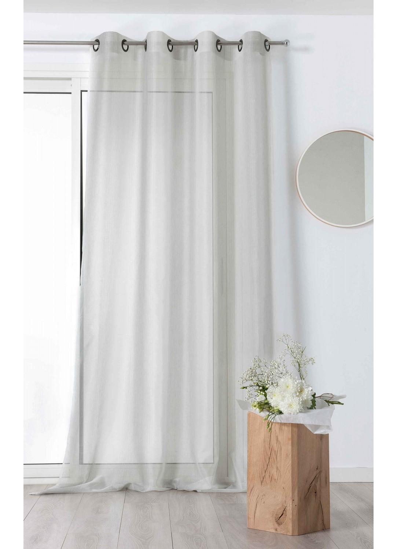 voilage fantaisie fines rayures verticales gris bleu vert rose homemaison vente. Black Bedroom Furniture Sets. Home Design Ideas