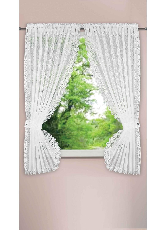 rideau bonne femme effet plumetis blanc ivoire homemaison vente en ligne petits. Black Bedroom Furniture Sets. Home Design Ideas