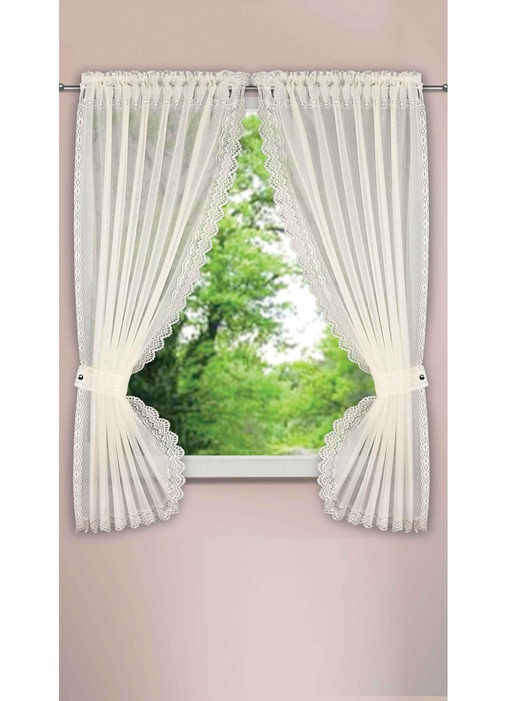 rideau bonne femme effet plumetis ivoire blanc homemaison vente en ligne petits. Black Bedroom Furniture Sets. Home Design Ideas