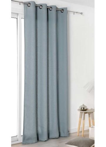 Rideau Authentique en 100% lin - Bleu ciel - 135 x 260 cm