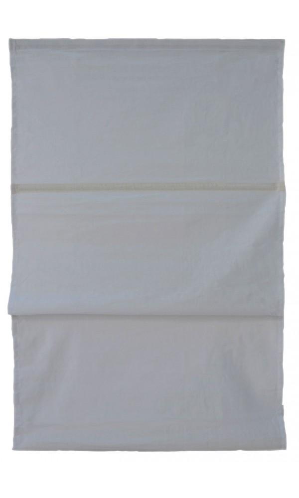 Store Bateau Uni 100% Coton - Gris - 100 x 150cm