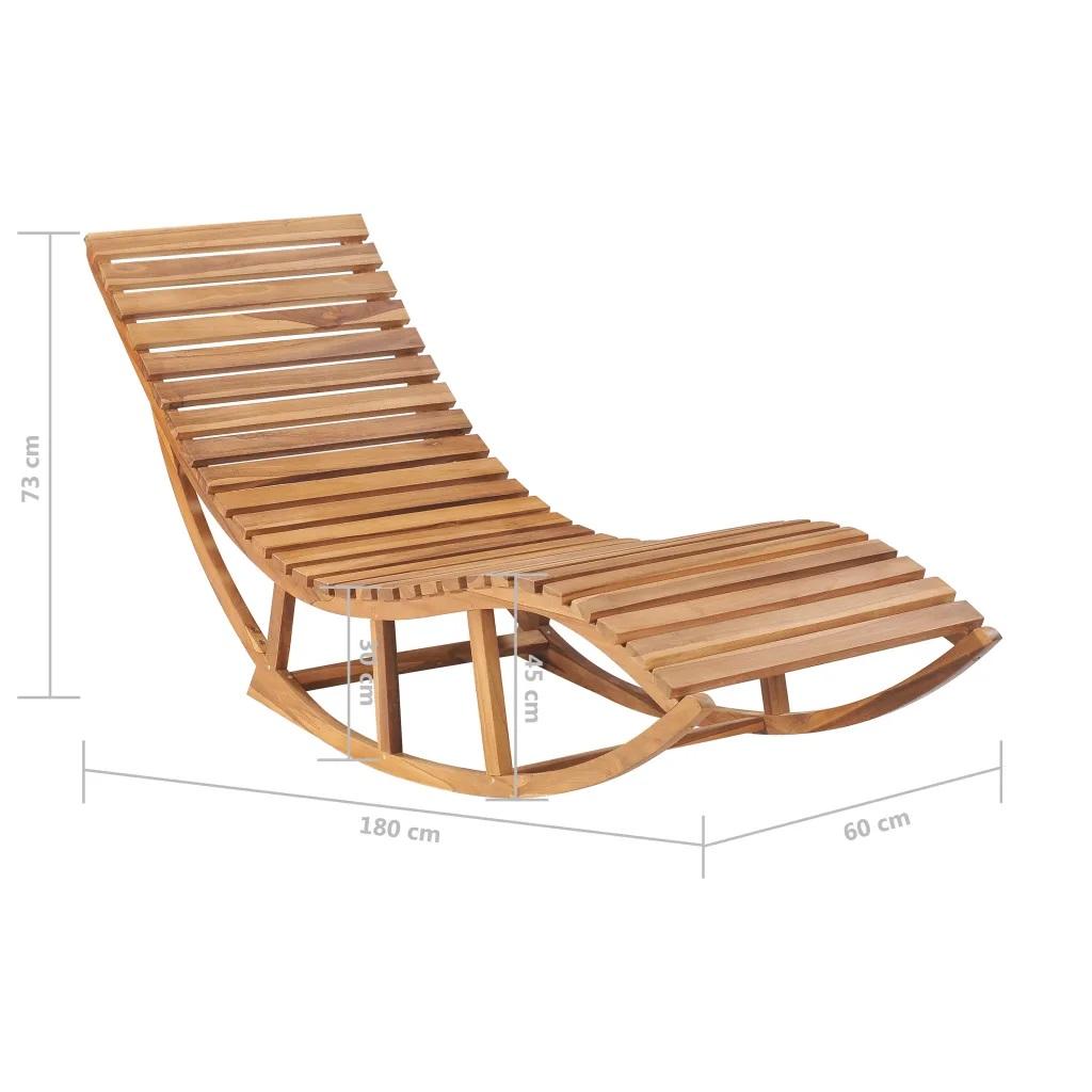 Chaise longue à bascule en teck - TECK - 60 x 180 x 73 cm