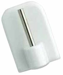 4 Supports Adhésifs Plastique (Blanc)