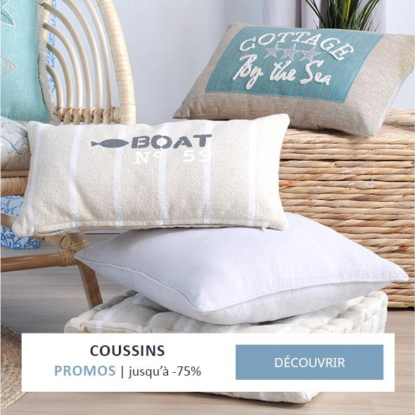 Coussins bord de mer
