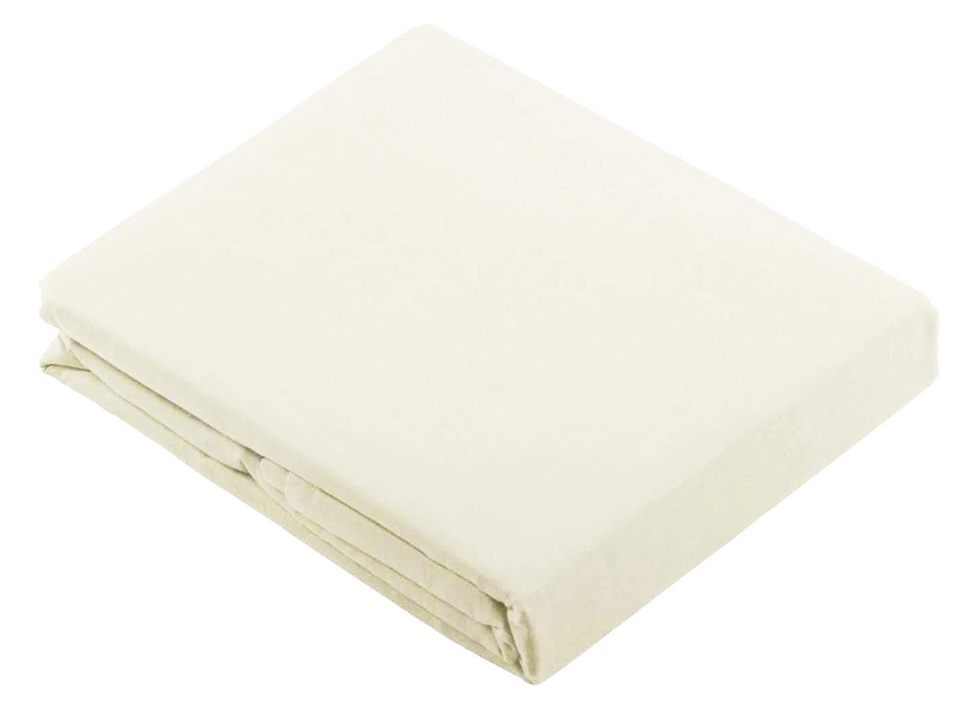 Drap Plat Uni en 100 % Coton - Blanc - 240 x 310 cm