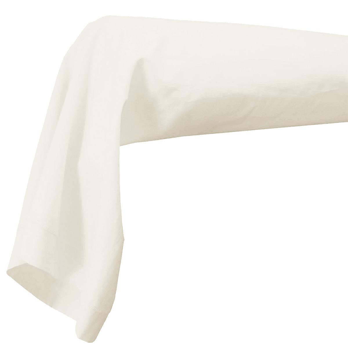 Taie de Traversin Unie en 100% Coton (Blanc)