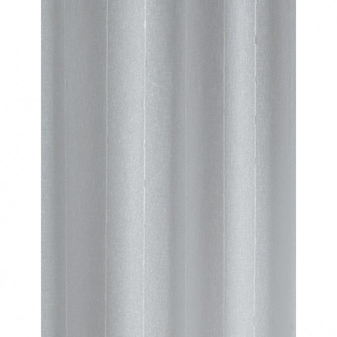 Vitrages droit en étamine rayée (Blanc)