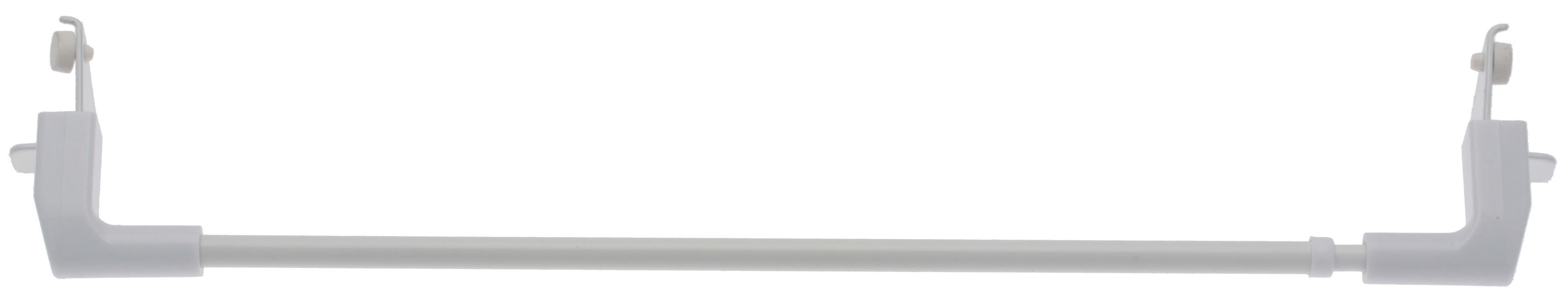 Tringle ext sans embout 'Press & Go' sans percage (Blanc)