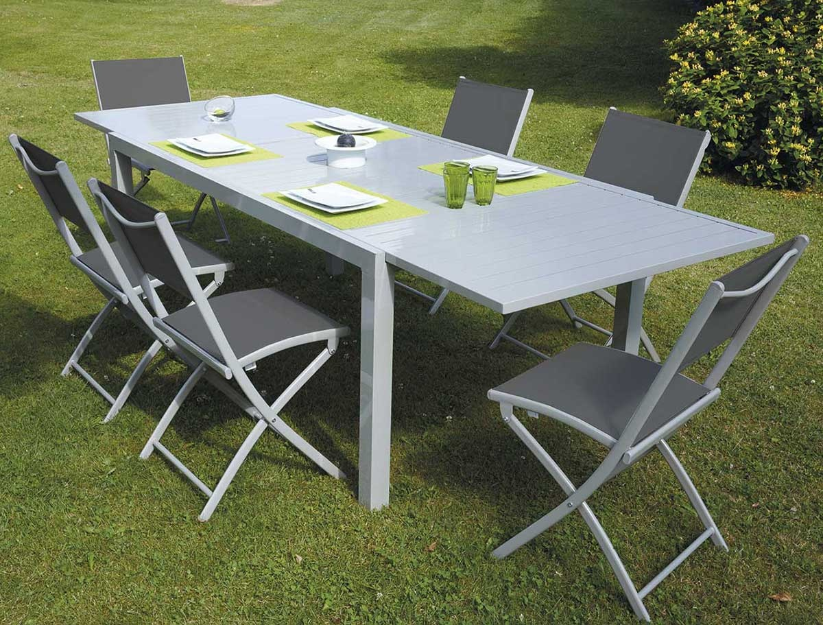 Salon de Jardin Extensible  (Taupe)