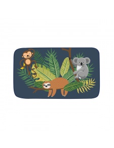 Tapis déco enfant en velours imprimé jungle