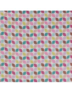 Tissu M1 non feu imprimé rosaces multicolores