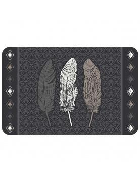 Mantel individual opaco plumas