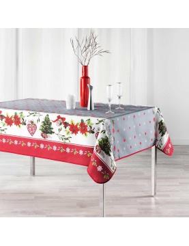 Mantel rectangular espíritu de Navidad