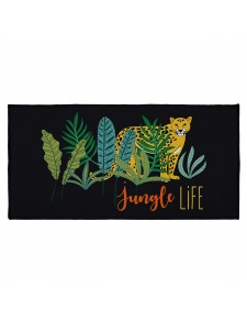 Tapis déco imprimé jungle