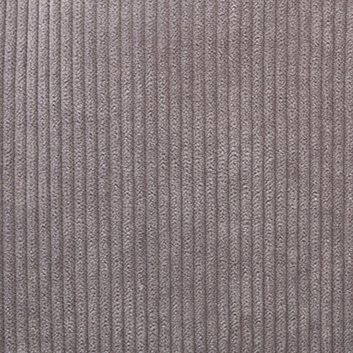 Coussin déhoussable en velours côtelé (Gris clair)