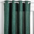 Rideau uni en velours côtelé (vert cèdre)